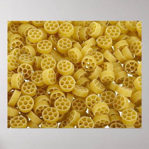 Rå pastabakgrund posters
