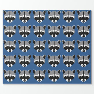 Raccoon med ledsna ögon presentpapper
