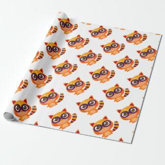 Raccoonbaby djur i flickaktigt söt stil presentpapper