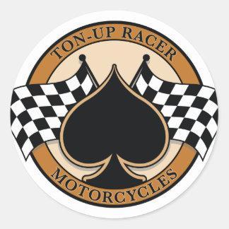 Racer för ton-upp runt klistermärke