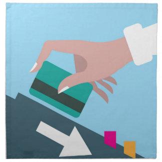 Räcka att nalla kreditkorten tygservett