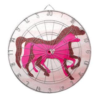 Räcka den designade rosa hästdartboarden piltavla