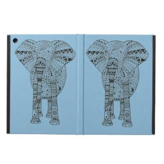 Räcka den illustrerade Artsy elefanten iPad Air Skal