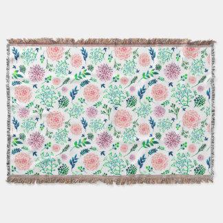 Räcka den målade filten för vår blommormönsterkast filt
