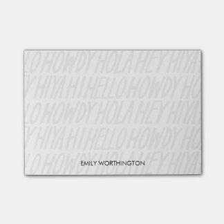 Räcka den märkte Hellos anpassningsbar Postar-it® Post-it Block
