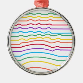 Räcka den optiska illusionen julgransprydnad metall