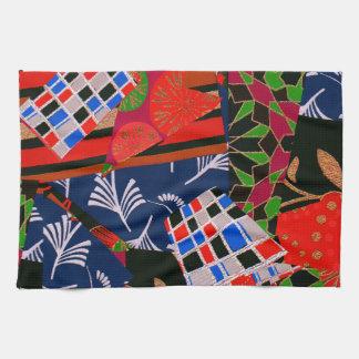 Räcka handduken med briljant Collage Kökshandduk