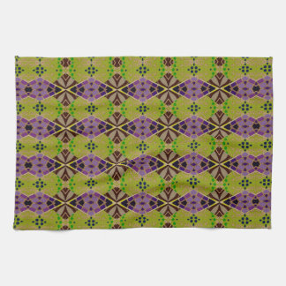 Räcka handduken med det härliga olivgröna mönster kökshandduk