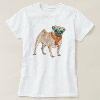 Räcka-målad bulldogg för HipsterFrenchie mops Tshirts