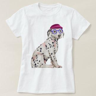 Räcka-målad Dalmatian prickig hund för Hipster T-shirts