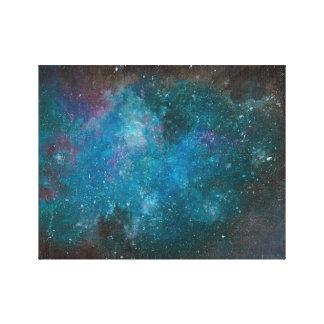 Räcka målad galaxkanfas canvastryck