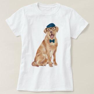 Räcka-målad HipsterLabrador hund T-shirts