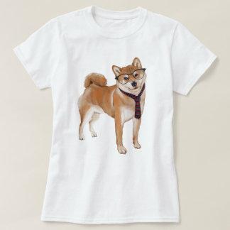 Räcka-målad HipsterShiba Inu japansk hund T Shirts