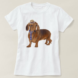 Räcka-målad Hipstertaxhund Tee Shirts
