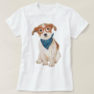 Räcka-målad hund för HipsterjackRussell Terrier Tshirts