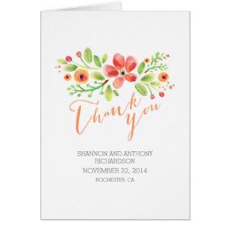 räcka målade blommor som att gifta sig tackar dig OBS kort