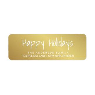 Räcka-Utskrivaven bokstäveretikett för glad helg Returadress Etikett
