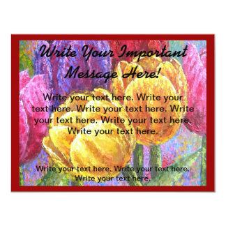 Rackcard för reklamblad för blommamålninginbjudan 10,8 x 14 cm inbjudningskort