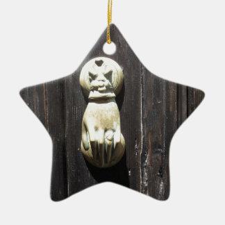 Räcker den franska mässingsportklappen för vintage julgransprydnad keramik