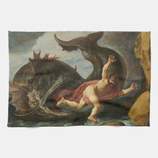 """""""Räcker Jonah och val"""" handduken Kökshandduk"""