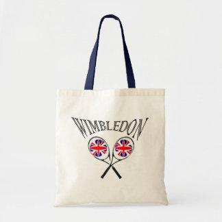 Racket och bollar för UK-flaggaWimbledon tennis Tygkasse