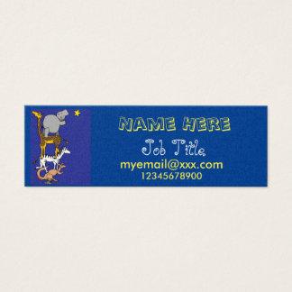 Räckvidd för stjärnavisitkorten litet visitkort