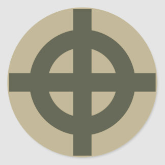 Räckviddlockklistermärke, Celtickor, stil 1 Runt Klistermärke