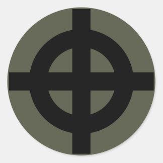 Räckviddlockklistermärke, Celtickor, stil 2 Runt Klistermärke