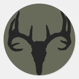 Räckviddlockklistermärke, hjortskalle runt klistermärke
