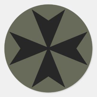 Räckviddlockklistermärke, maltesisk kor - stil 2 runt klistermärke
