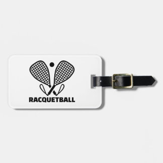 Racquetball Bagagebricka