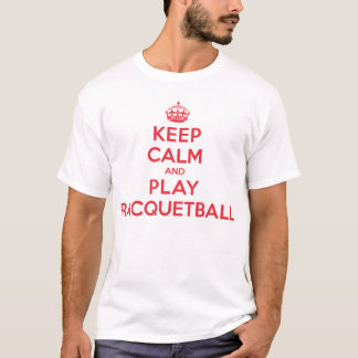 Racquetball för behållalugnlek t shirt