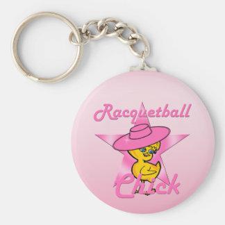 Racquetballchick #8 rund nyckelring