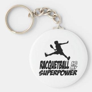 racquetballen är min superpower rund nyckelring