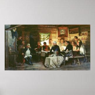 Råd av krig i Fili i 1812, 1882 Poster