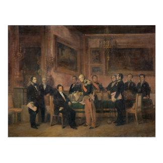 Råd av minister på Tuileries underteckna Vykort
