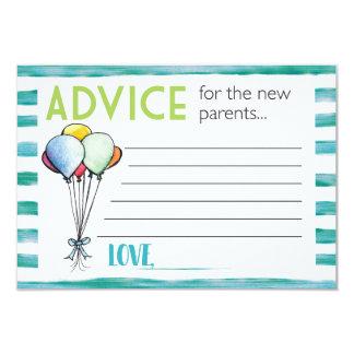Råd för nya föräldrar 8,9 x 12,7 cm inbjudningskort