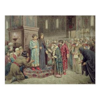 Råd som kallar Michael F. Romanov till Vykort