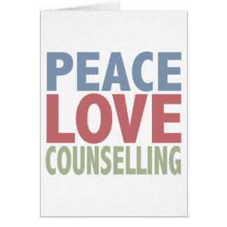 Råda för fredkärlek hälsningskort