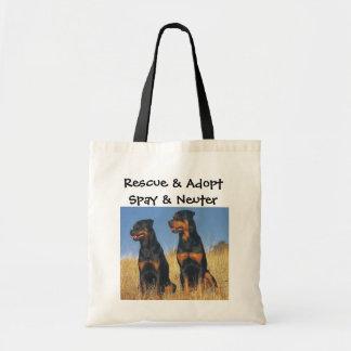 Rädda & adoptera, Spay & sterilisera, Rottweilers Tygkasse