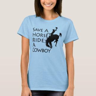 Rädda en hästritt en Cowboy T Shirt