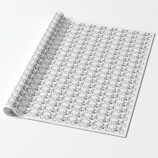Raddacykelsymboler som slår in papper presentpapper