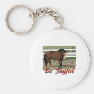 Räddad Morgan häst:  Var glatt Rund Nyckelring