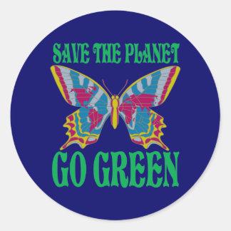 Räddade planeten går grönt runt klistermärke