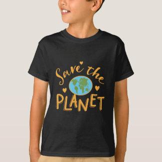 räddade planeten t shirt