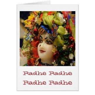 Radha KRISHNA för kärlek, välstånd för fred n Hälsningskort