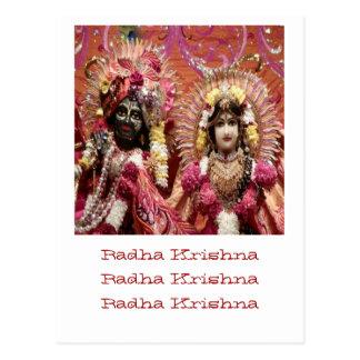 Radha KRISHNA för kärlek, välstånd för fred n Vykort