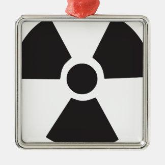 radioaktiv varning undertecknar julgransprydnad metall