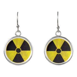Radioaktiv varning undertecknar | kall Grunge Örhängen