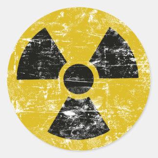 Radioaktiv vintage runt klistermärke
